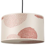 Meridian Pendant - Brushed Nickel / Red Mumm