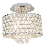 Kristal Crystal Drop Semi Flush Mount