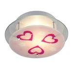Heart Novelty Ceiling Semi-Flush Mount