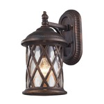 Barrington Gate Outdoor Wall Sconce - Hazlenut Bronze / Water Glass