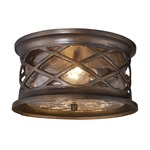 Barrington Gate Outdoor Flush Mount - Hazlenut Bronze / Water Glass