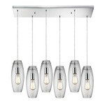 Menlow Park 60054-6RC Linear 6-Light Pendant