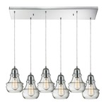 Menlow Park 60057-6RC 6-Light Linear Pendant