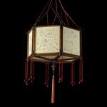 Concubina Loto Pendant - Brass / Ivory Classic Silk