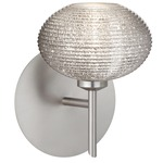 Lasso Wall Light - Satin Nickel / Glitter Ribbed