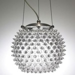 Urchin Orb Standard Pendant - Satin Nickel / Clear