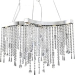 Crystal Sensation 8 Light Suspension