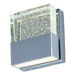 Fizz III Wall Sconce 22755 - Polished Chrome / Etched Bubble