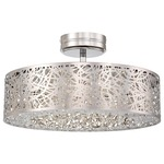 Hidden Gems LED Semi Flush - Chrome / Crystal