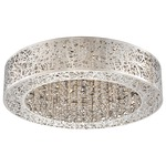 Hidden Gems LED Flush Mount  - Chrome / Crystal