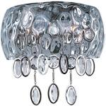 Ripple Wall Light - Polished Nickel / Water Glass