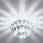 Agave Flush Mount - White / Matte White