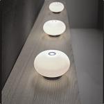 Blow Mini Table - Matte Nickel / Matte White