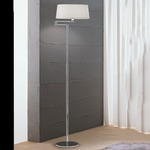 Classic Swing Arm Floor Lamp - Chrome / White