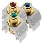 Component Video RCA to F Kit -  / White