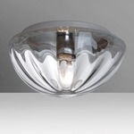 Pinta Ceiling Light Fixture - Aluminum / Clear