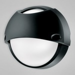 Airy Top Round Indoor / Outdoor Wall / Ceiling Mount - Black /