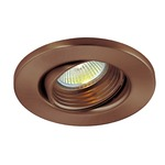 Baffled Gimbal Round 3.25 Inch Trim - Satin Copper /