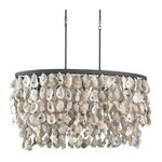 Stillwater Chandelier - Blacksmith / Oyster Shells