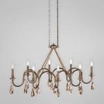 Padova Linear Pendant - Bronze / Cognac
