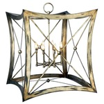 Portobello Road Lantern - Platinized Silver Leaf /