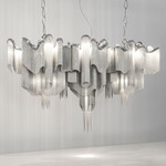 Stream Linear Pendant - Nickel /