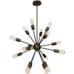 Flux Vintage Chandelier - Bronze /