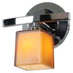 Sydney 18 5 Light Bathroom Vanity Light - Chrome / Amber