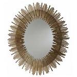 Prescott Oval Mirror - Antique Gold Leaf /