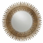 Prescott Round Mirror - Antique Gold Leaf /