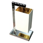 Coco Small Table Lamp - Chrome / White Percaline / Gold