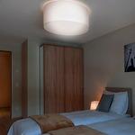 Circus Semi-Flush Ceiling Light Fixture - Brushed Nickel / Cotton White