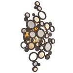 Fathom Wall Light - Bronze/ Polished Brass / Crystal