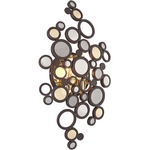 Fathom Wall Sconce - Bronze/ Polished Brass / Crystal