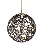 Fathom LED Pendant - Bronze/ Polished Brass / Crystal