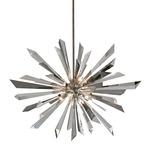 Inertia Pendant - Silver Leaf / Crystal