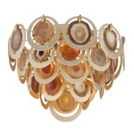 Rock Star Ceiling Flush Mount - Gold Leaf / Natural Agate
