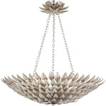 Broche 6 Light Chandelier - Antique Silver /