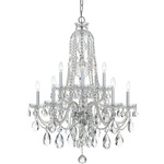 Traditional Crystal 1110 Chandelier - Chrome / Crystal