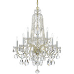 Traditional Crystal 1110 Chandelier - Polished Brass / Crystal