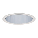 Lytecaster 1008/1010/1012/1013 5 Inch Cone Downlight Trim -  / Comfort Clear Diffuse / White Trim