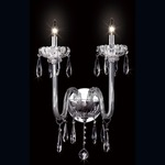 Villa Wall Sconce - Chrome / Clear Crystal
