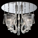 Corato Flush Mount - Chrome / Clear