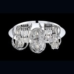 Yorkville Flush Mount - Chrome / Clear Crystal