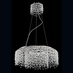 Fonte Round Chandelier - Chrome / Clear Crystal