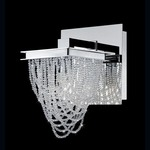 Rio Wall Sconce - Chrome / Clear Crystal
