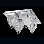 Rio Flush Mount - Chrome / Clear Crystal