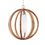 Allier Pendant - Light Wood / Opal