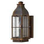 Bingham Outdoor Wall Light - Sienna / Clear Seedy