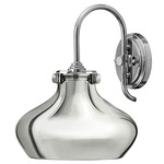 Congress Open Bottom Wall Light - Chrome /